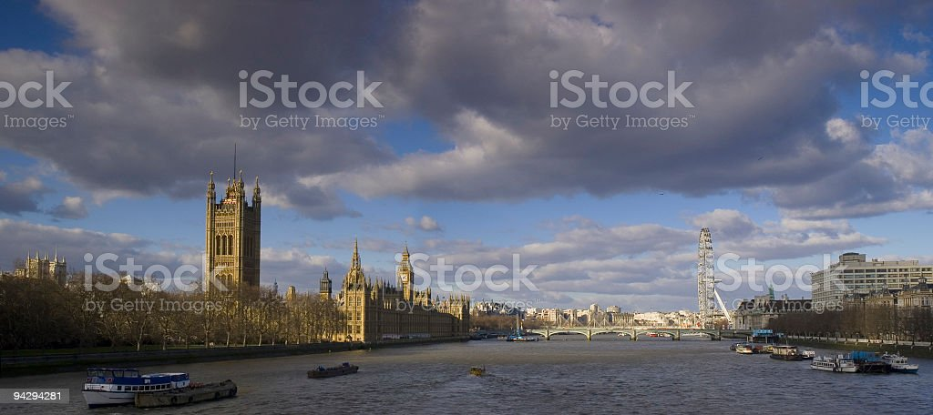 Houses of Parliament and River Thames stock photo