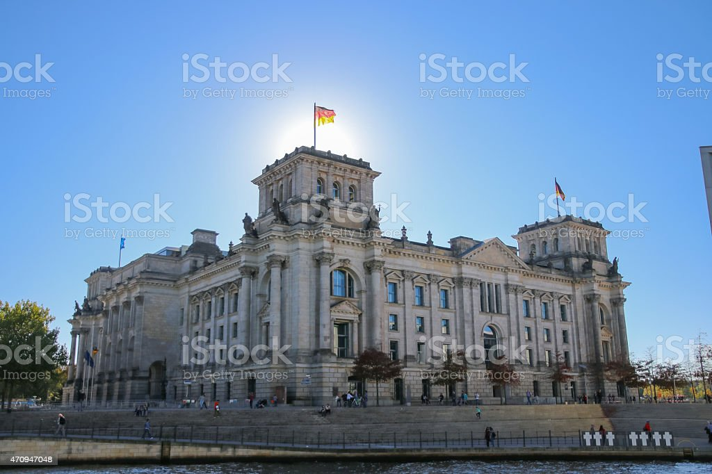 Houses of Parliament At Berlin stock photo