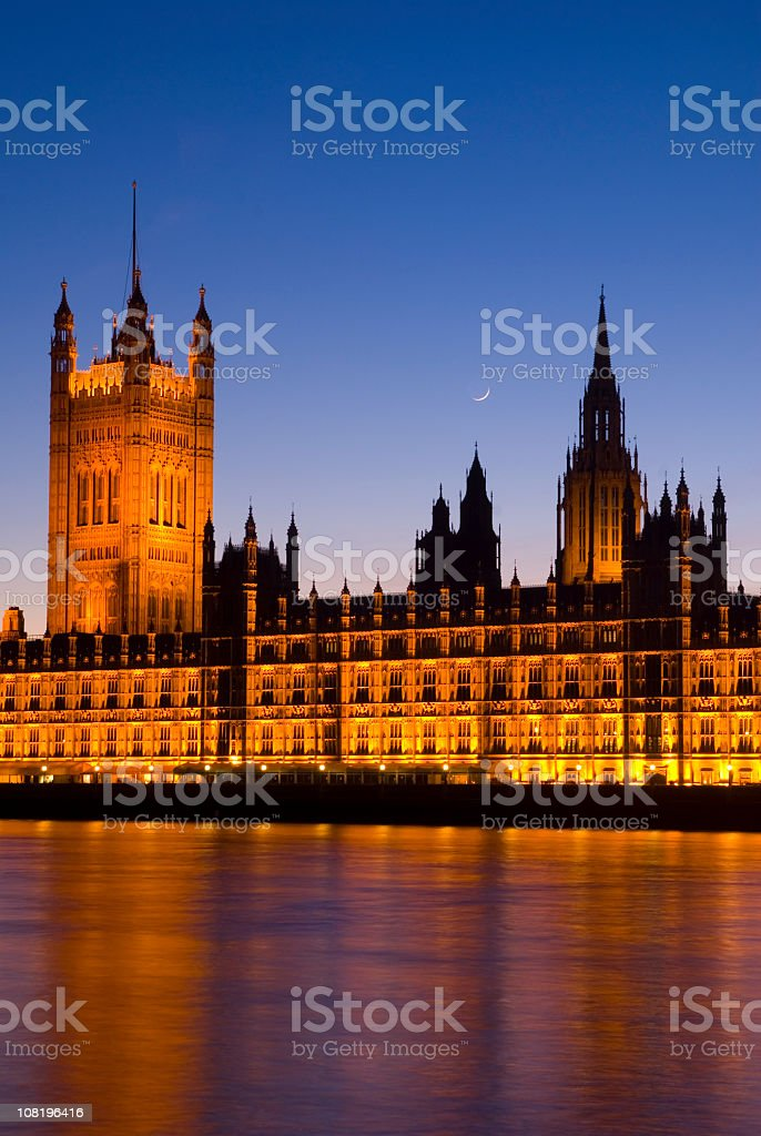 Houses of Parliament at Dusk royalty-free stock photo