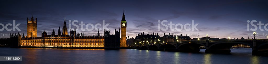 XXL - Houses of Parliament at Twilight. royalty-free stock photo