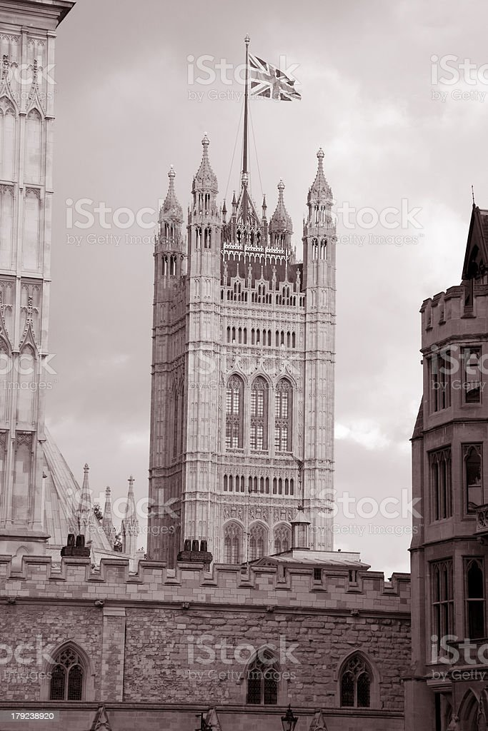 Houses of Parliament at Westminster; London royalty-free stock photo
