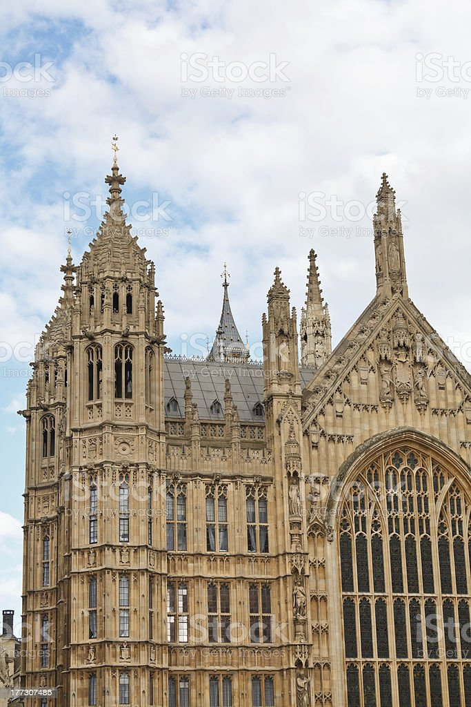 Houses of Parliament detail royalty-free stock photo