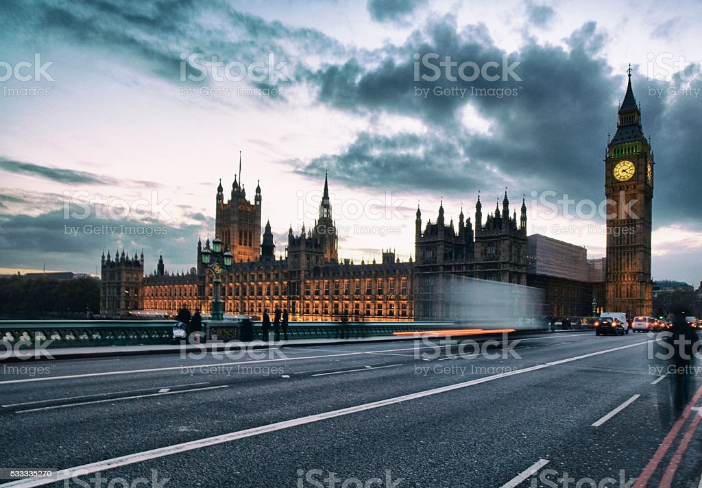Houses Of Parliament From Westminster Bridge stock photo
