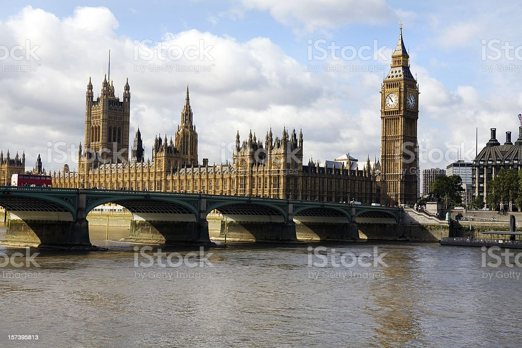 Houses of Parliament in London England royalty-free stock photo