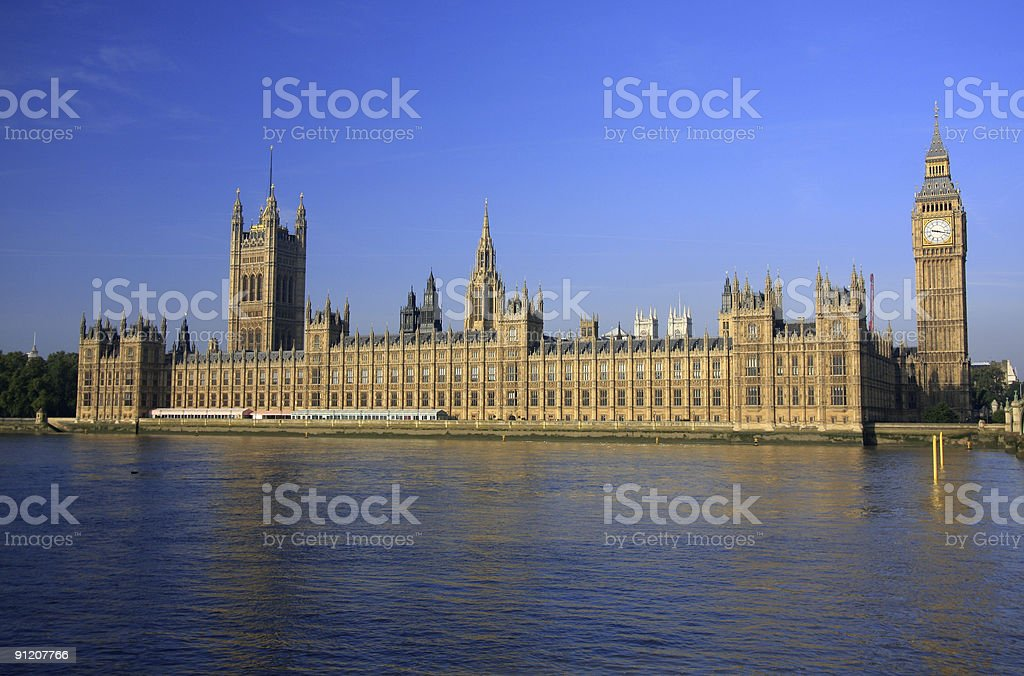 Houses of Parliament in London, England stock photo
