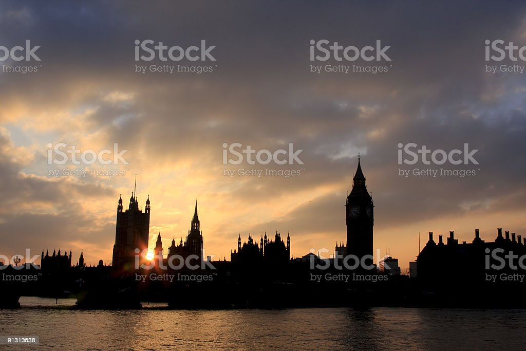 Houses of Parliament in London, England royalty-free stock photo