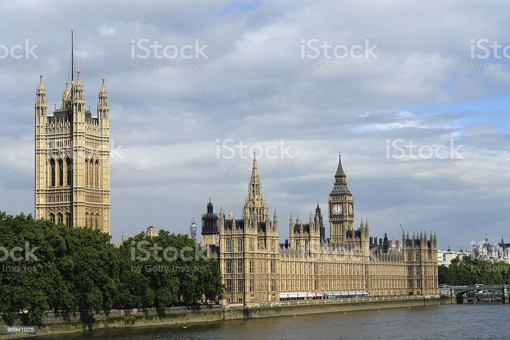 Houses of Parliament in London royalty-free stock photo