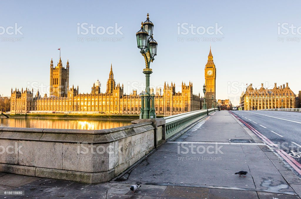 Houses of parliament in London, UK stock photo