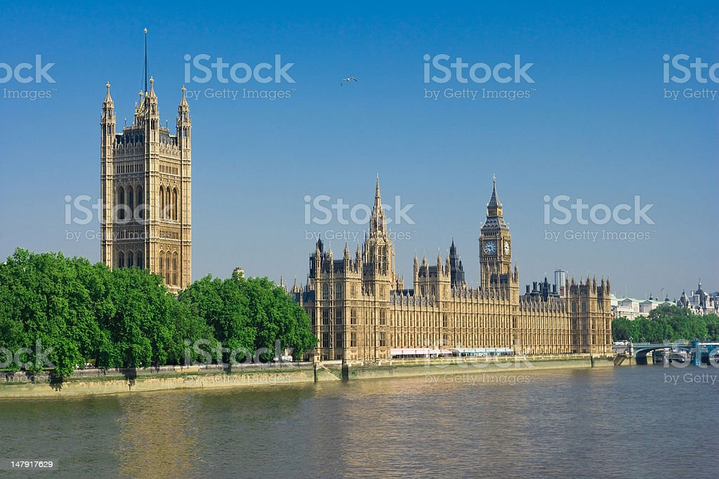 Houses Of Parliament in the morning stock photo