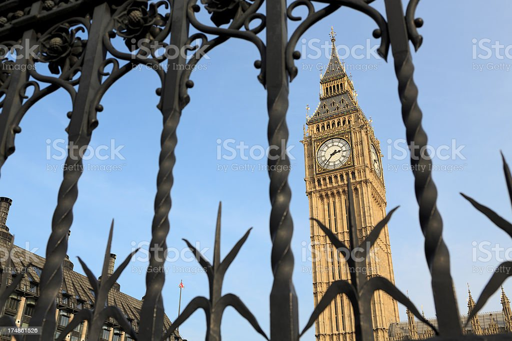 Houses of Parliament in Westminster, London royalty-free stock photo