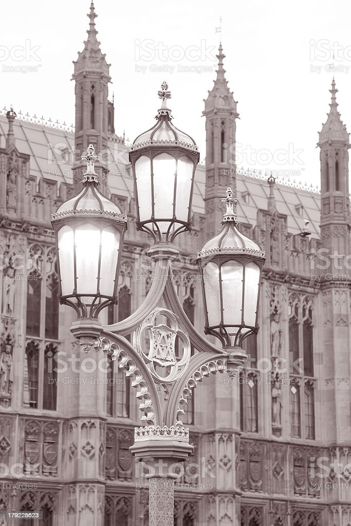 Houses of Parliament in Westminster; London royalty-free stock photo