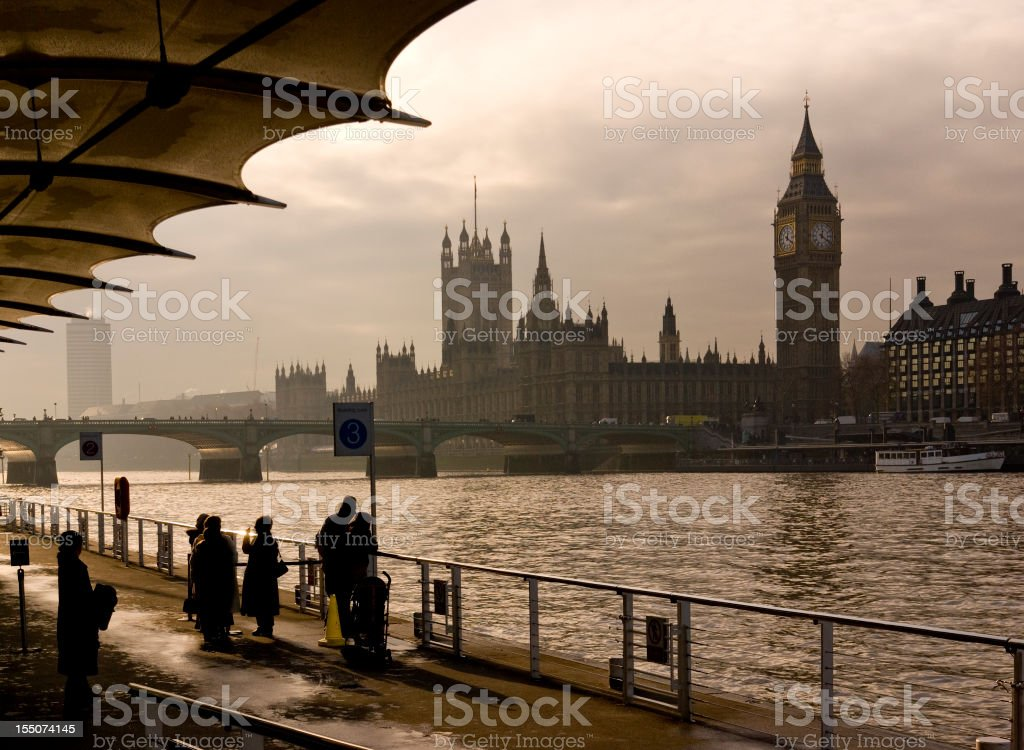Houses of Parliament London and Big Ben royalty-free stock photo