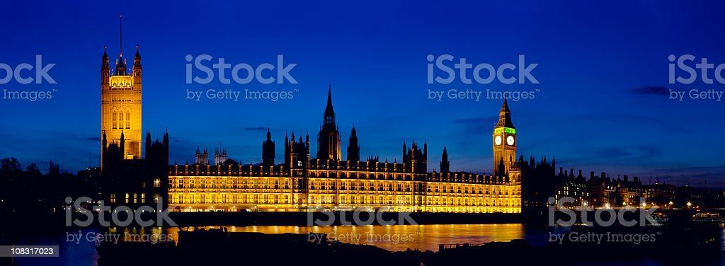 Houses of Parliament, London, at Dusk royalty-free stock photo