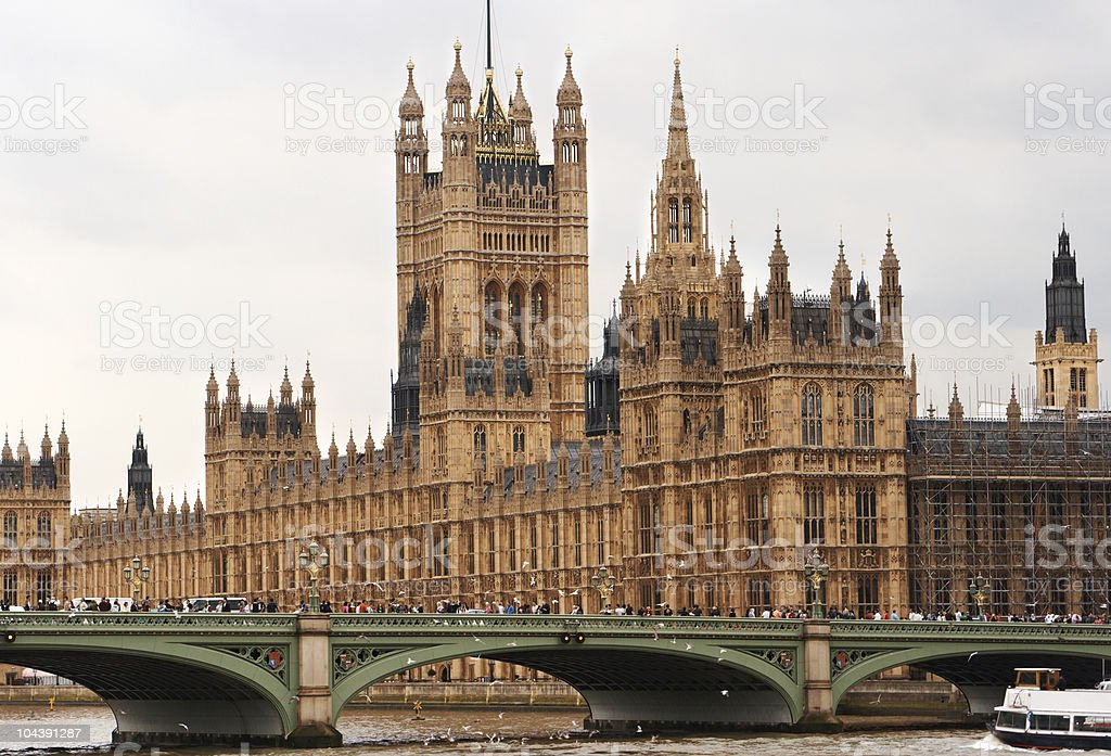 Houses of Parliament. London, England stock photo