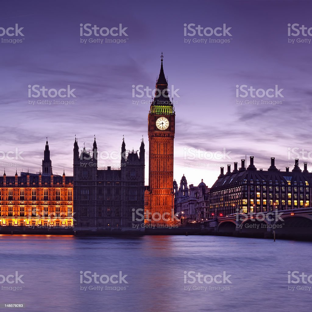 Houses of Parliament, London - England. royalty-free stock photo