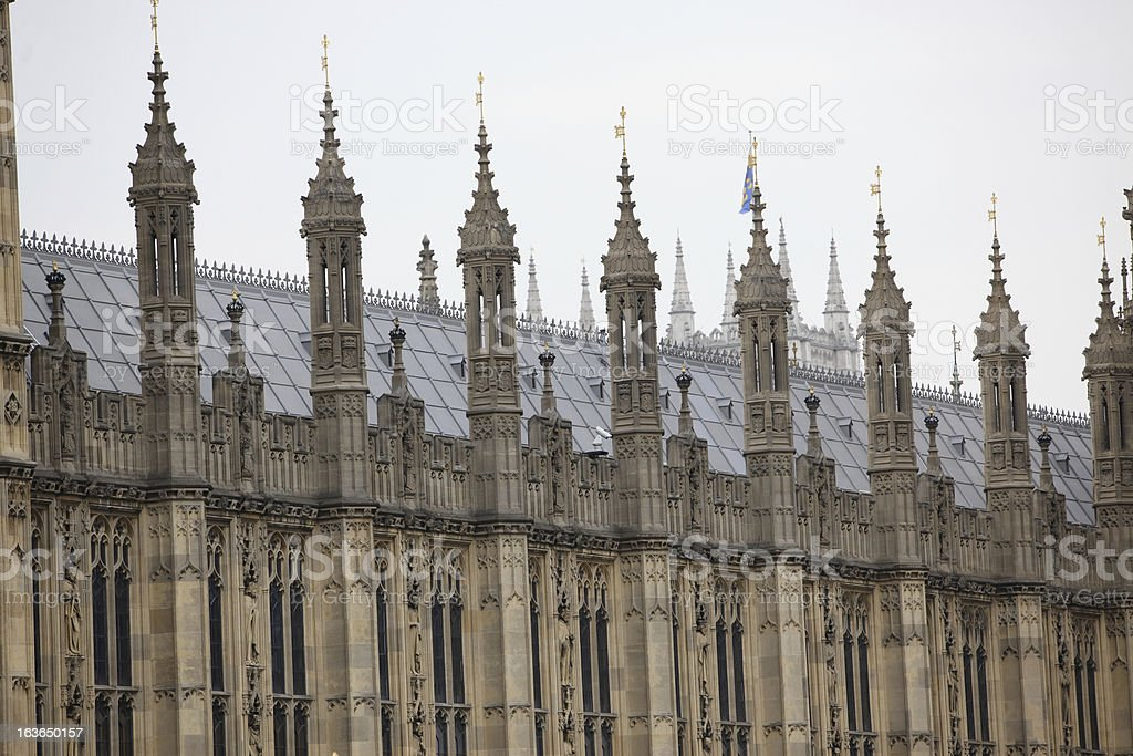 Houses of Parliament, London gothic architecture, UK royalty-free stock photo
