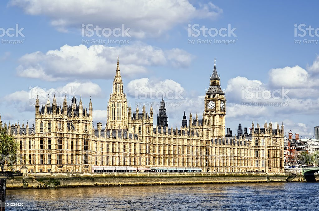 Houses of Parliament, London. stock photo