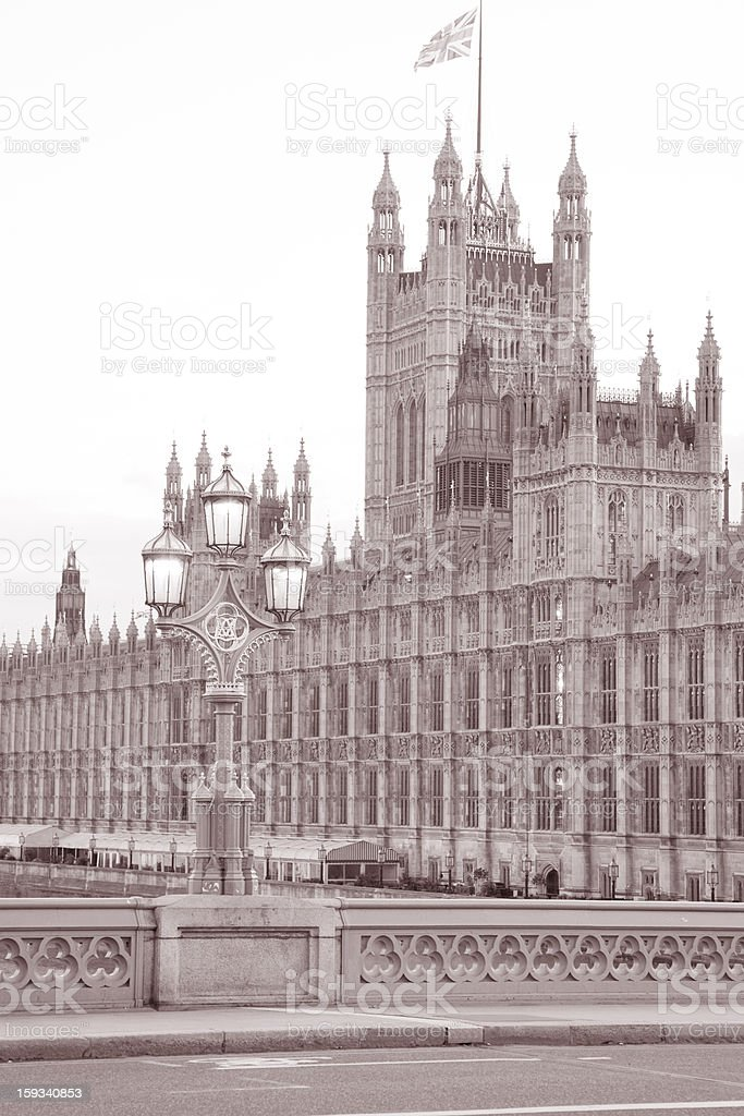 Houses of Parliament; London royalty-free stock photo