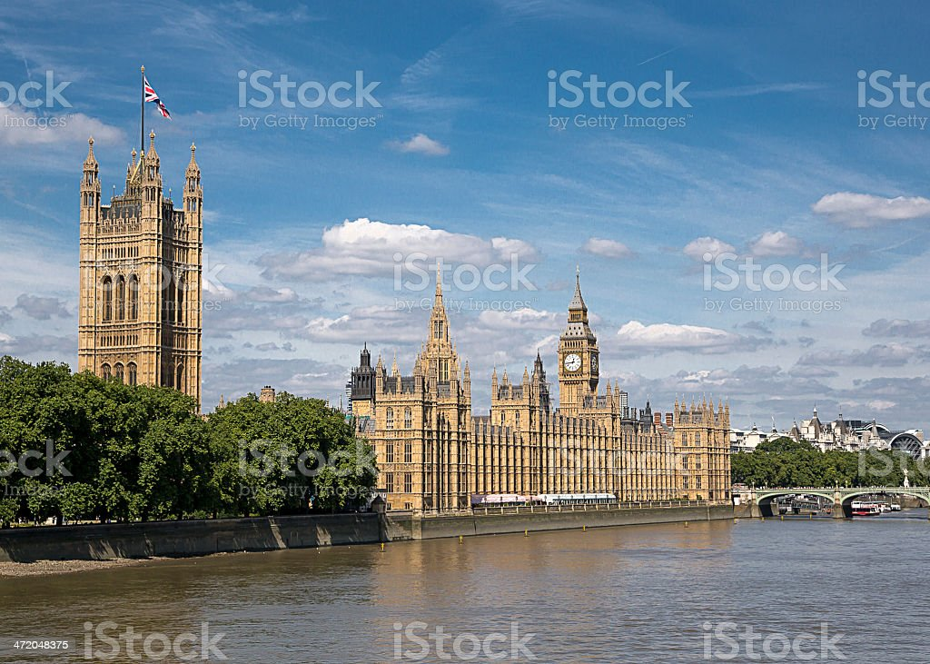 Houses of Parliament  London stock photo