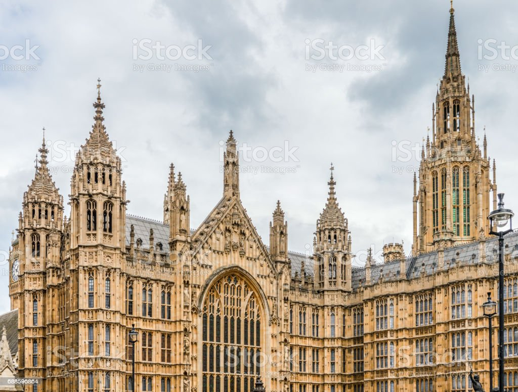 Houses of Parliament - London, UK stock photo