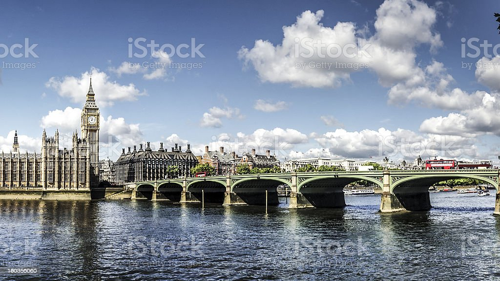 Houses of Parliament Panorama royalty-free stock photo