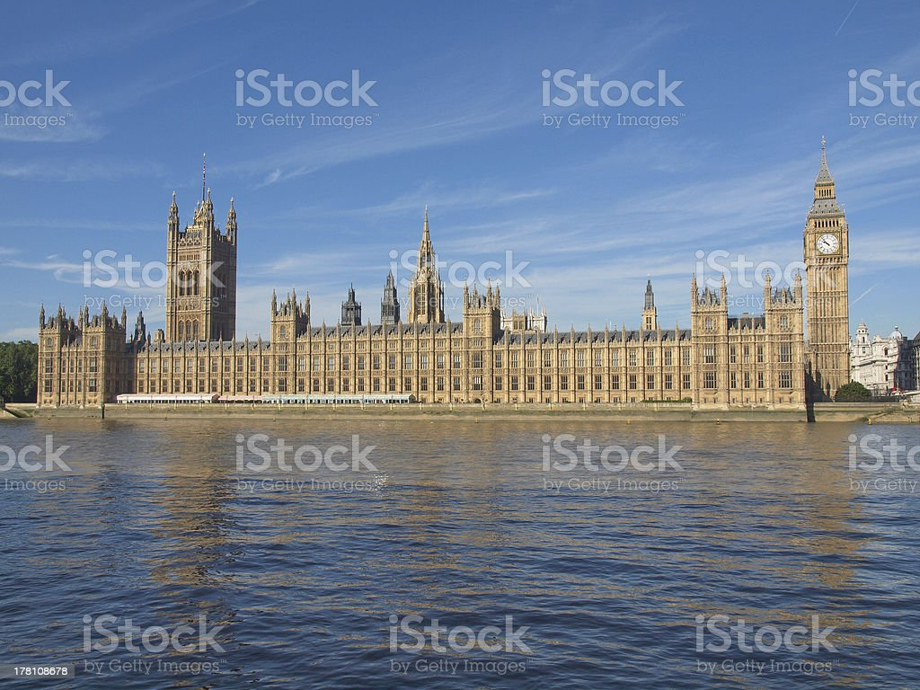 Houses of Parliament royalty-free stock photo