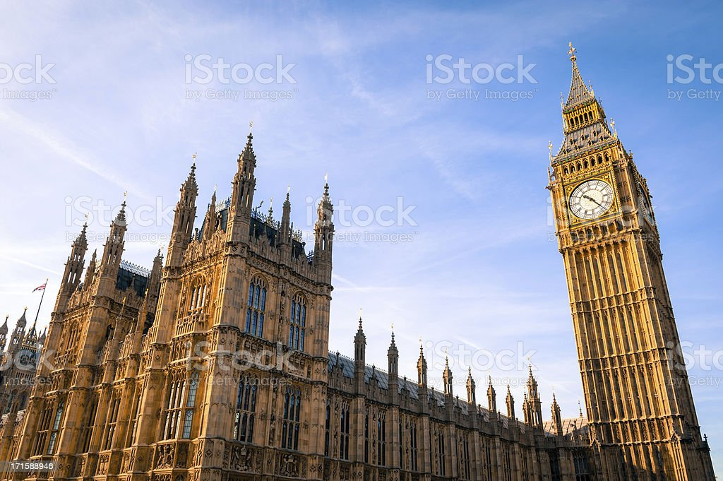 Houses of Parliament, Westminster, London royalty-free stock photo