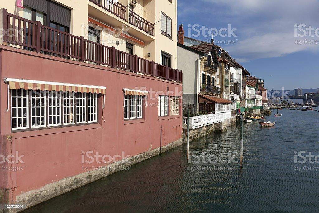 Houses of Pasaia stock photo