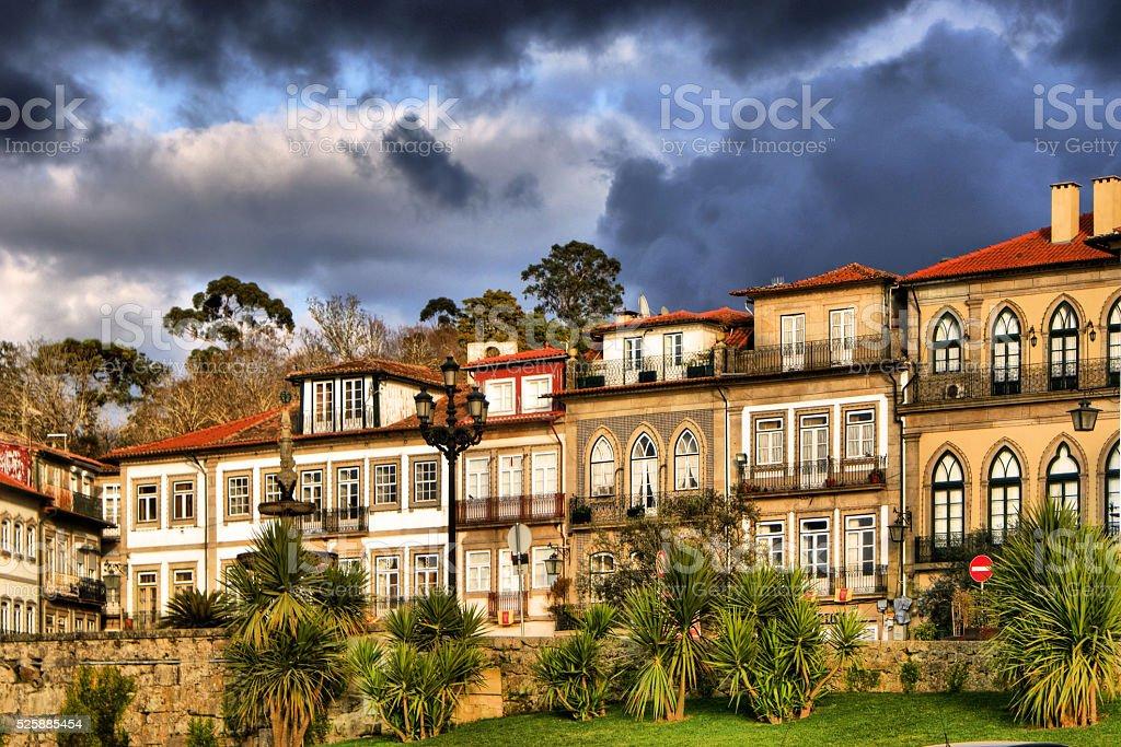 Houses of Ponte de Lima stock photo