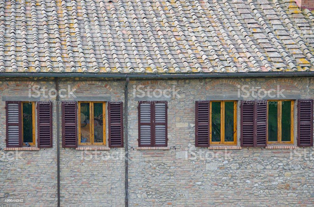Houses of San Gimignano, Italy stock photo