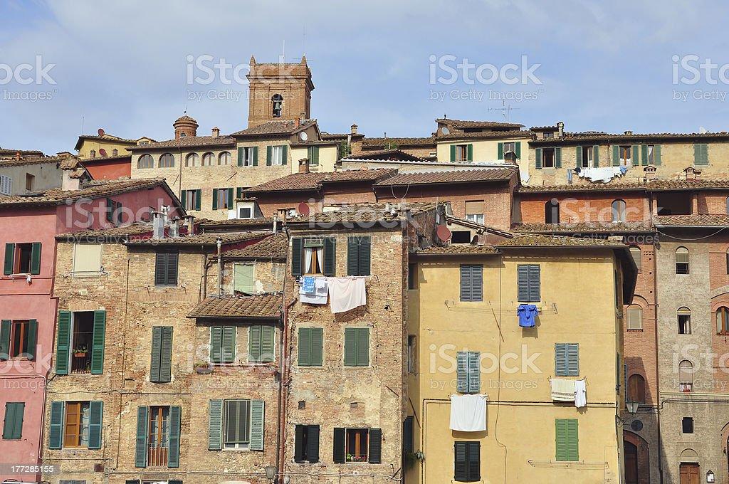Houses of Siena royalty-free stock photo
