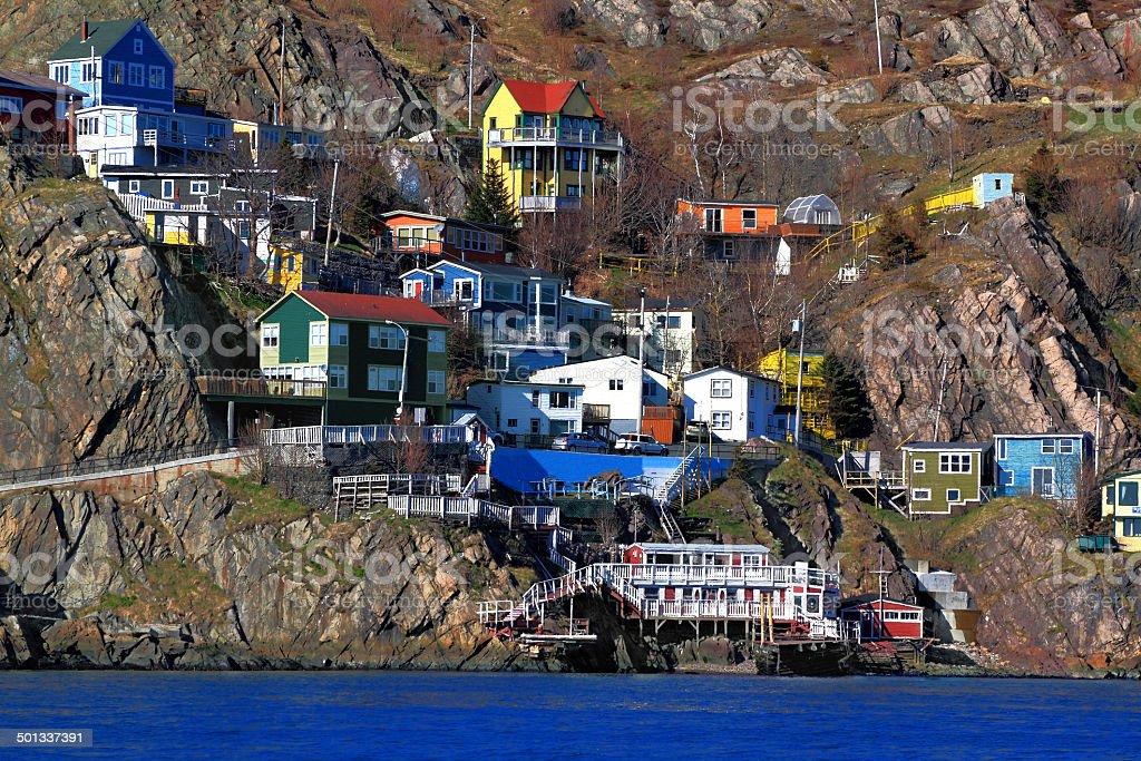 Houses of St.Johns Newfoundland stock photo
