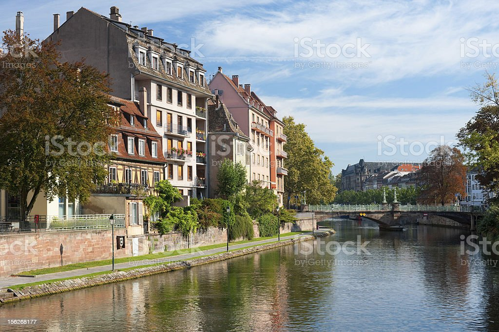 Houses of Strasbourg in the morning royalty-free stock photo