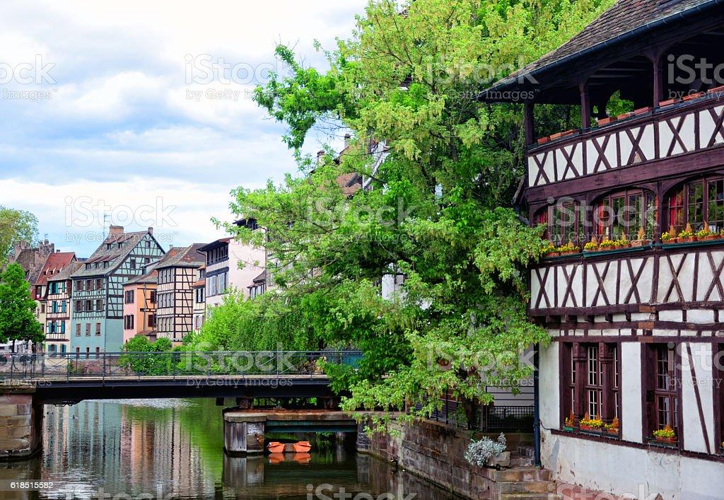 Houses of Strasbourg stock photo