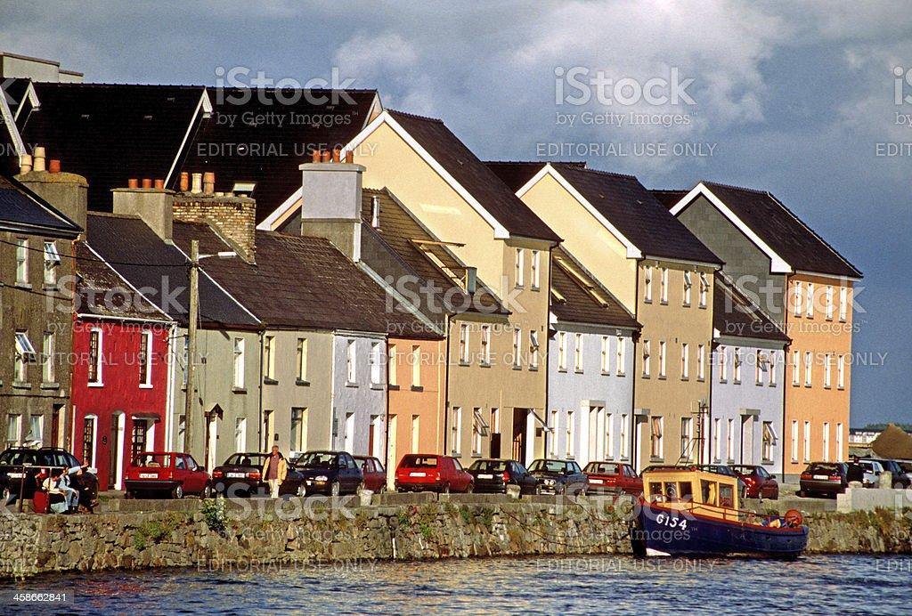 Houses of the Ballyknow Quay stock photo