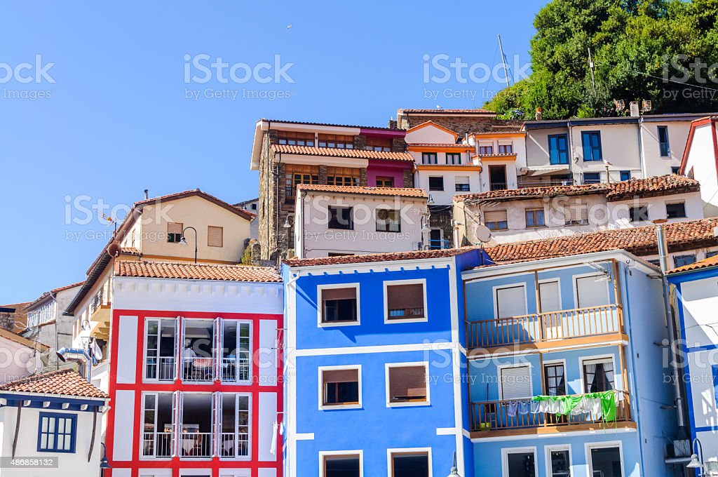 houses on a hillside stock photo