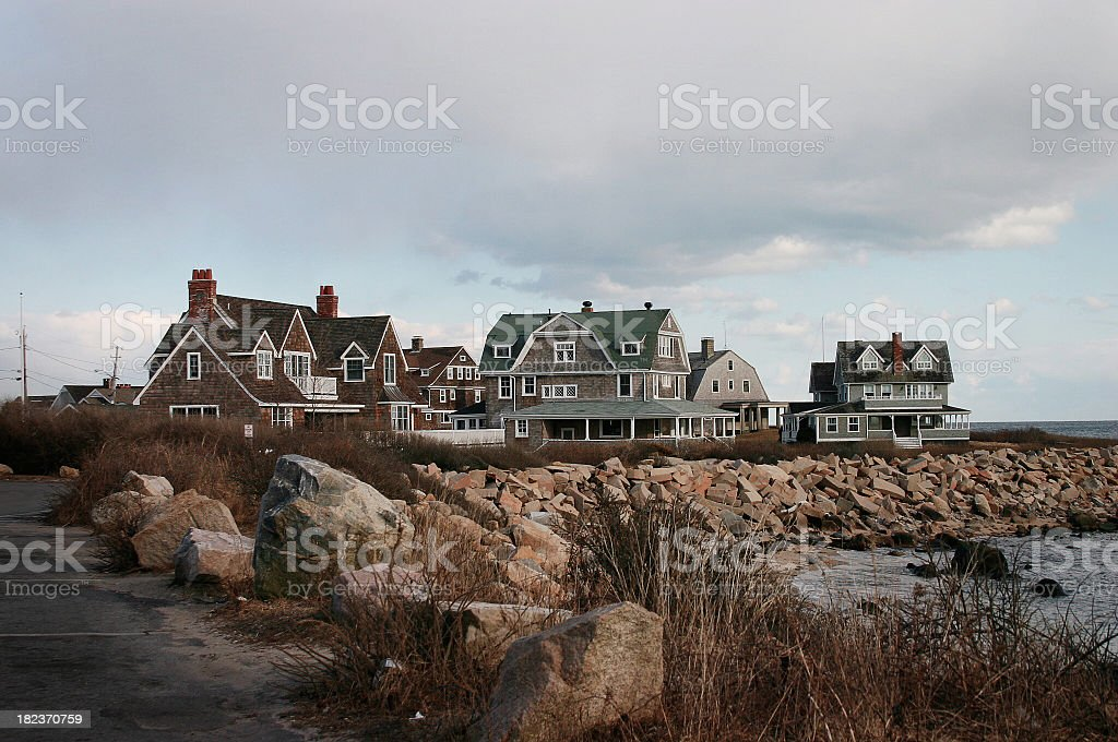 Houses on the Cape stock photo