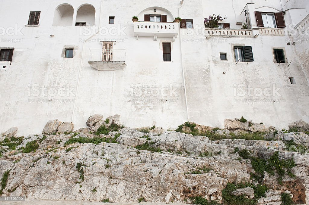 Houses on the rocks in Ostuni, Apulia (Puglia) - Italy royalty-free stock photo