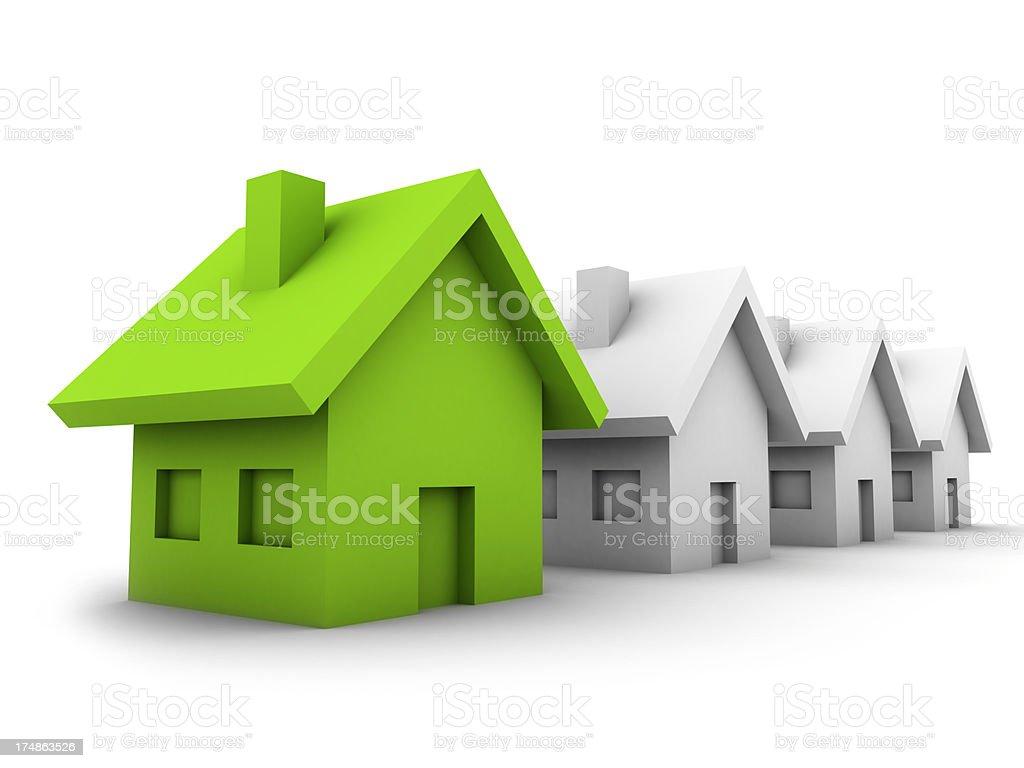 Houses royalty-free stock photo