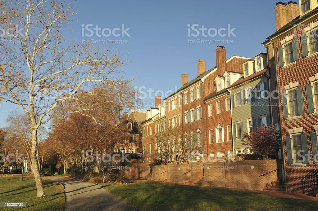 Houses stock photo