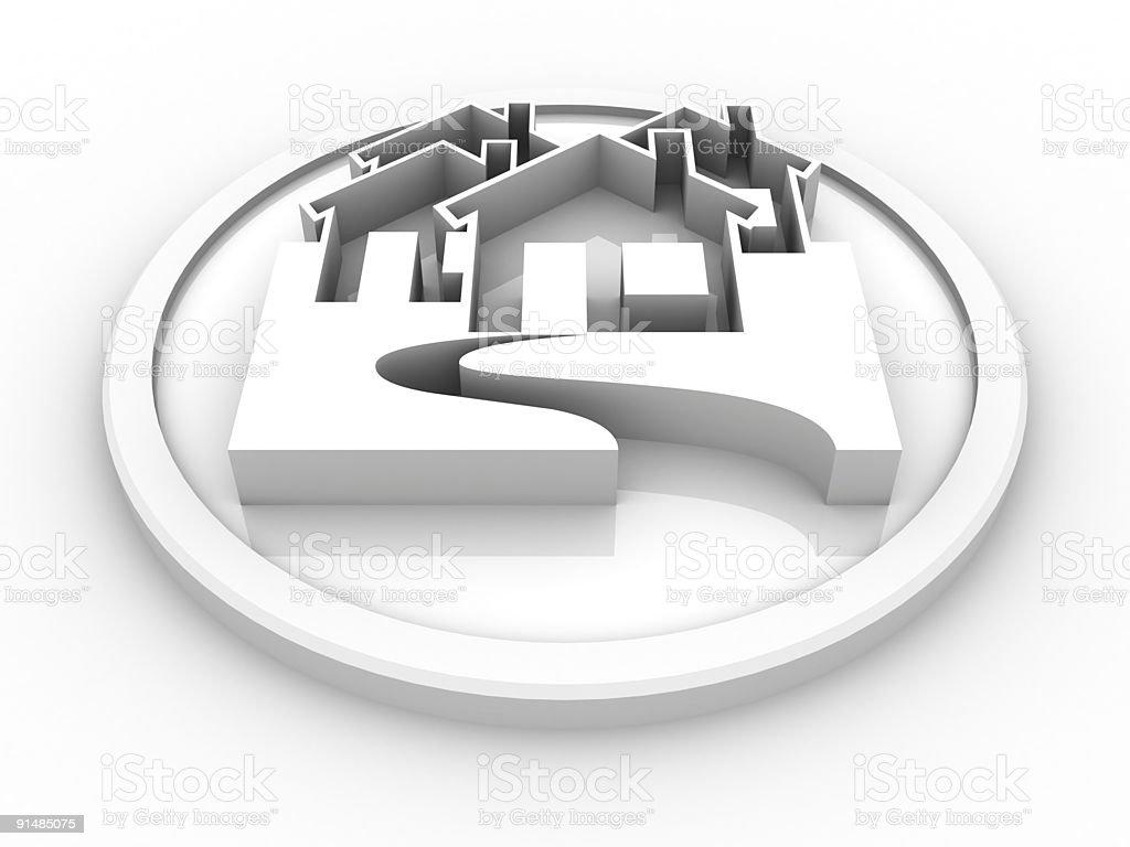 Houses Symbol XXL royalty-free stock photo