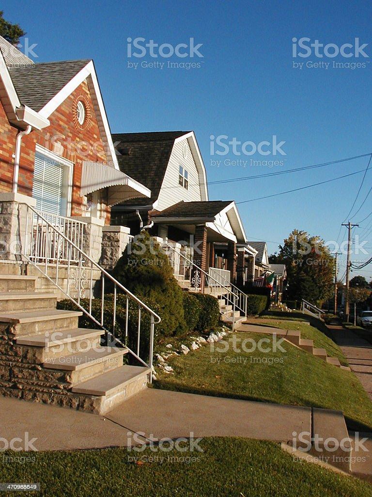 Houses - The Neighborhood stock photo