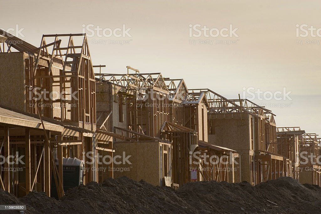 Houses Under Construction royalty-free stock photo