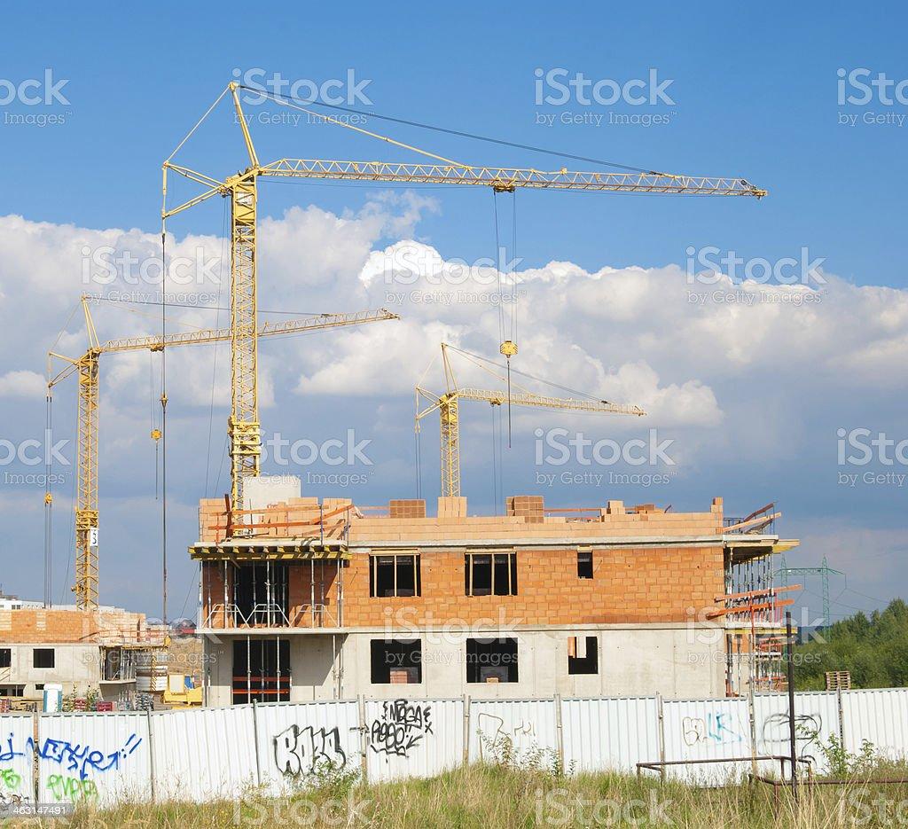 Houses under Contruction royalty-free stock photo