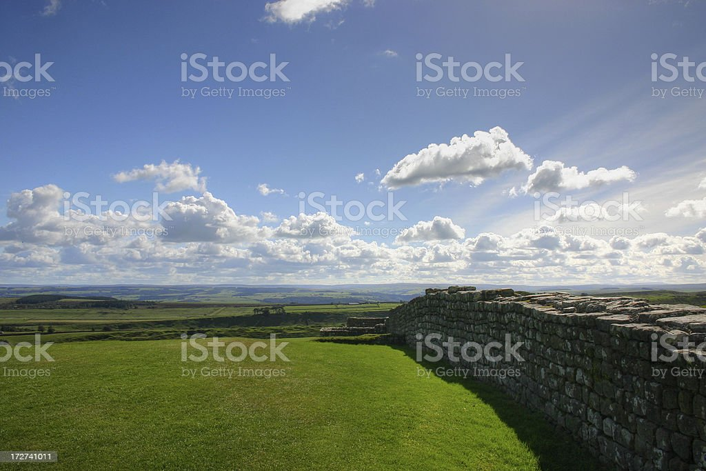 Housesteads Fort - Outer Wall royalty-free stock photo