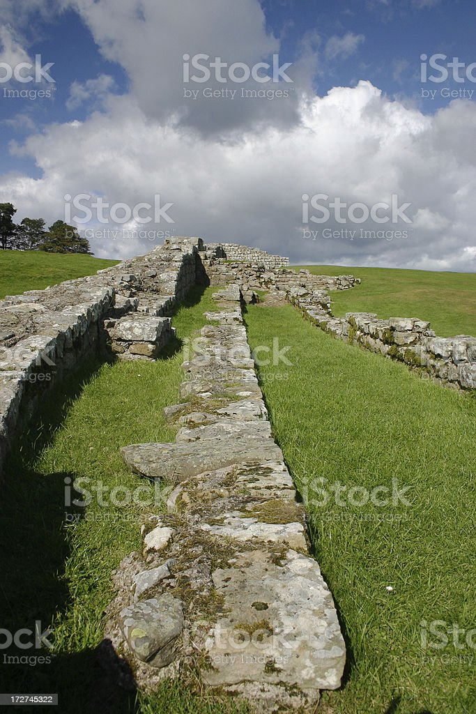 Housesteads Fort royalty-free stock photo