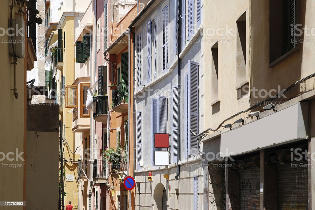 Housewall In A Street Of Spain stock photo
