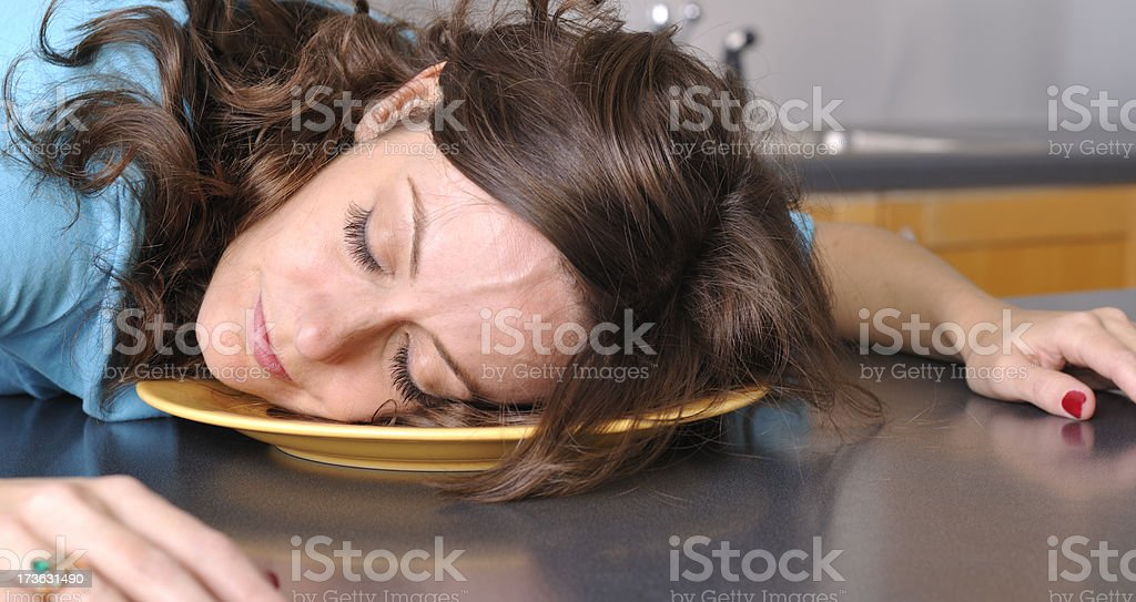 Housewife Siesta royalty-free stock photo
