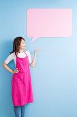 housewife take speech bubble billboard