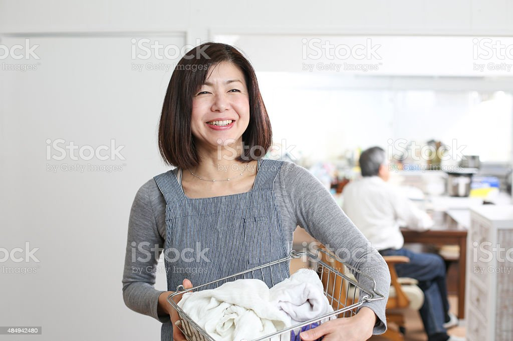 Housewife to do housework stock photo